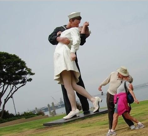 圣地亚哥的世纪之吻雕像