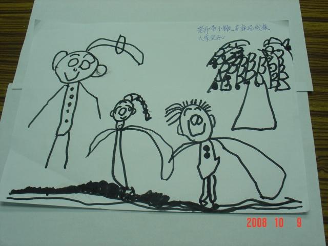 手工绘画柳树图