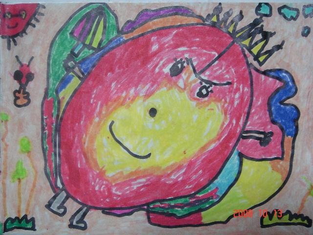 看看我一年级的美术作品