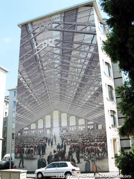 法国里昂的手绘墙画艺术(转)