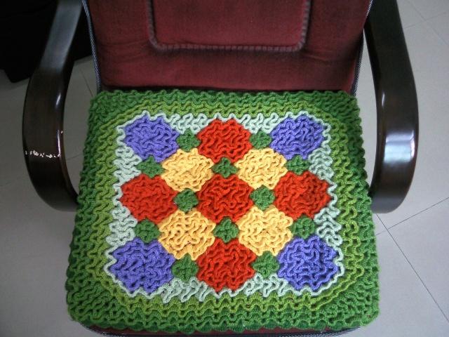 怎样用毛线勾坐垫图解-毛线怎么勾长方形坐垫-怎样用毛线织坐垫-旧