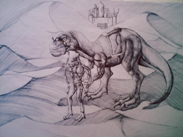 天 龙 素描 绝版首发 天龙八部 记者