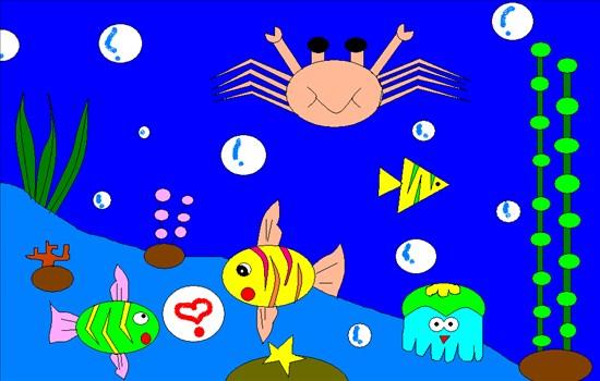 脑绘画—海底世界