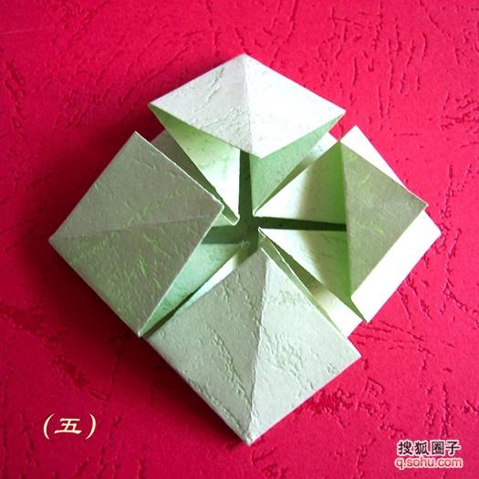 手工折纸花篮 - moush2006