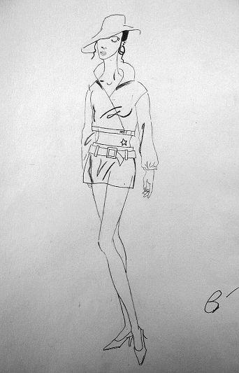 o型服装设计图手绘图