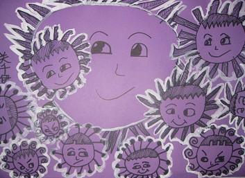 儿童创意线描画 小燕子和春天