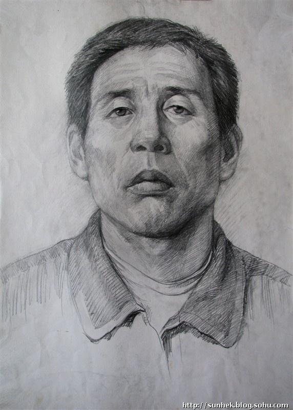 素描人头像写生习作