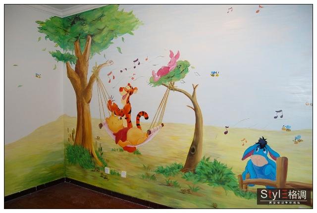 手绘墙植物图案居今年手绘墙墙面手绘图案流行之首.
