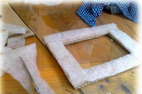 幼儿园手工制作相框硬纸板