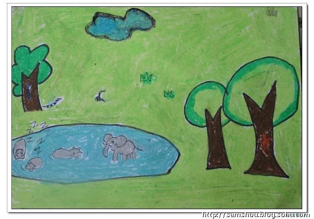 涵涵英语作业--画野生动物
