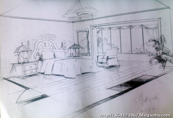 简约欧式风情家居---三口之家奢华但具备东方居住魅力的家居(手绘与