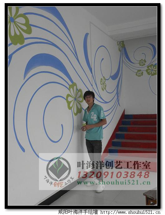 咸阳手绘墙 咸阳手绘pop 咸阳手绘服饰鞋帽---3530羽毛球会馆手绘墙