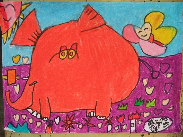 《卡通简笔画—大象