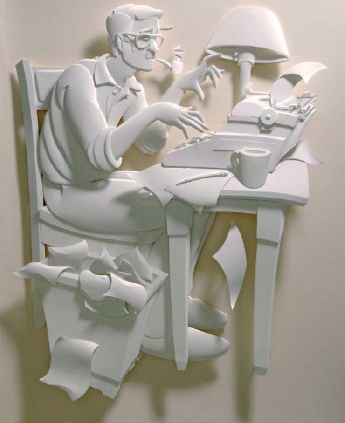 半立纸雕制作图解