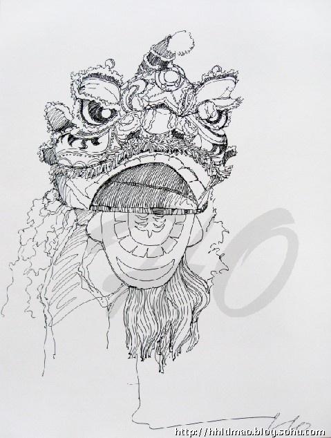 关于舞龙舞狮的简笔画大全_关于舞龙舞狮的简笔画汇总图片