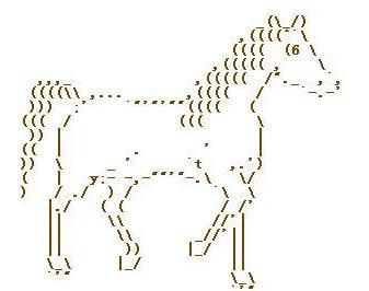 动物运动会 字符画欣赏