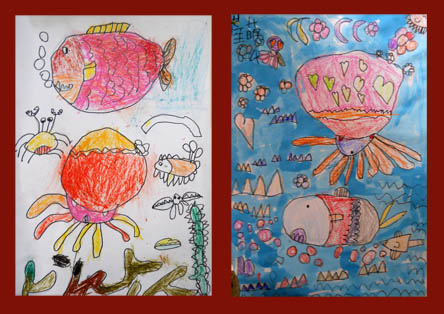 小乌贼-----幼儿绘画-烟台田雨儿童艺术俱乐部-搜狐