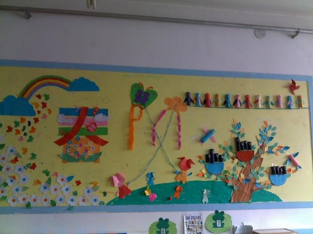 幼儿园风筝主题墙