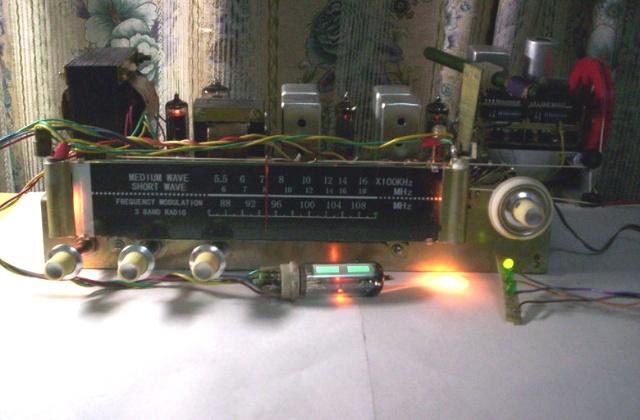 车载收音机aux电路板焊接线图