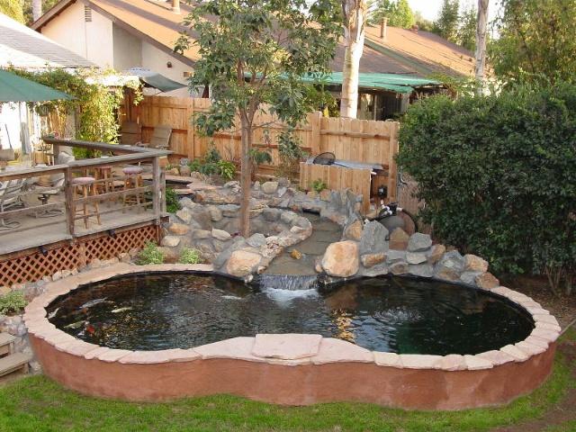 小院鱼池设计展示图片