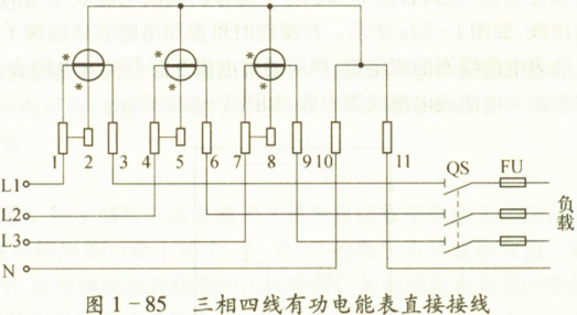 间接式三相三线式电能表需配两只相同规格的电流互感器.电源进线中.