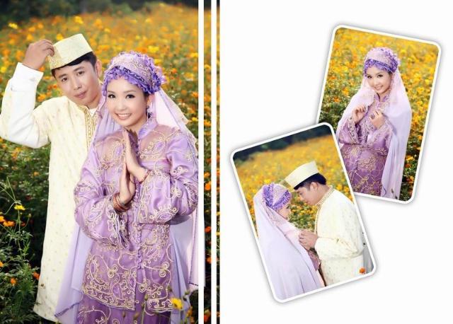 穆斯林唯美回族婚纱照