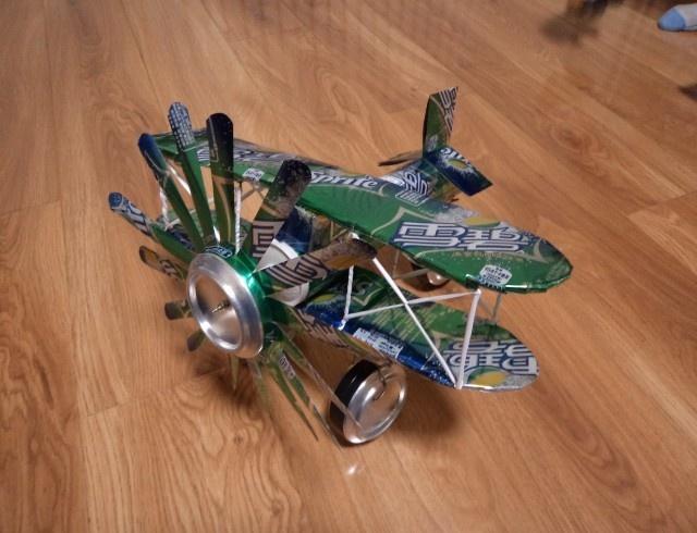易拉罐手工制作摩托