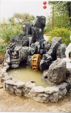 假山水池设计图半圆