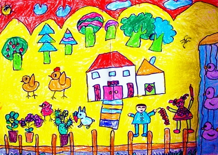 儿童画画我的小天地