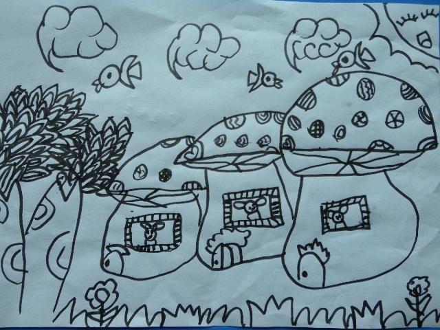 幼儿园修补图书步骤图简笔画