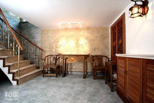 欧式装修过道墙面用沙雕背景画