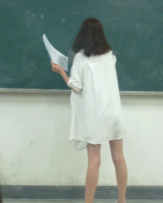 华中师大美女老师求打分 斑驳背影的博客