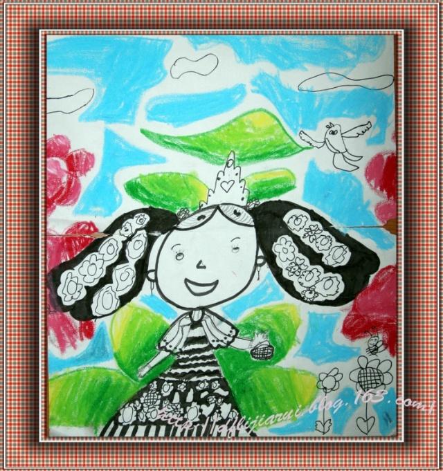 小可爱从幼儿园大班参加画室的学习,她的
