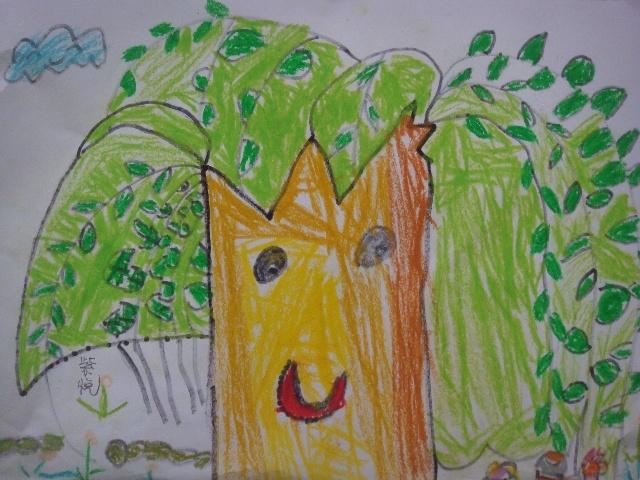 儿童画柳树大全内容|儿童画柳树大全图片
